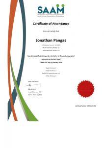 SAAM CPD Certificate Jonathan Pangas Just Mediation