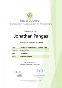 CPD Certificate - Jonathan Pangas from Just-Mediation