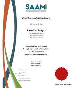 Just Mediate - SAAM Certificate