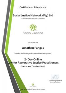 2 Day Online Law for Restorative Justice Practitoner-Jonathan Pangas
